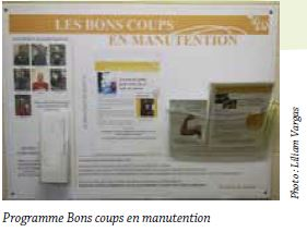 "Programme ""Bons coups en manutention"""