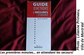 Guide d'actions en mesures d'urgence