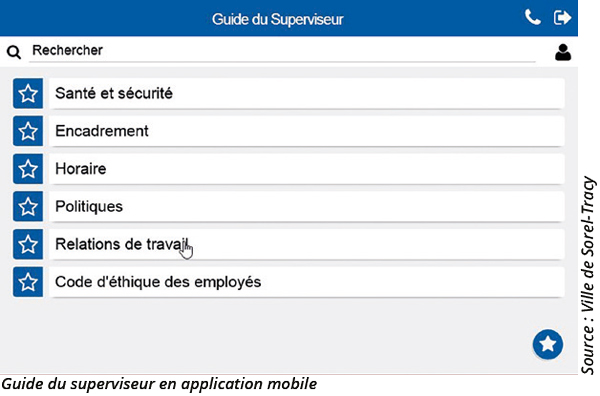 Guide du superviseur en application mobile